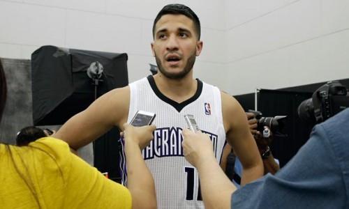 Greivis Vásquez tuvo un contacto con los medios de comunicación.