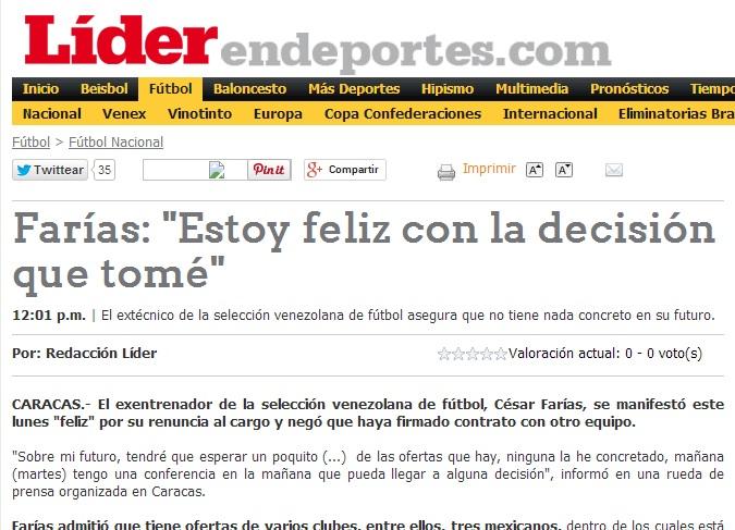 El diario deportivo Líder.