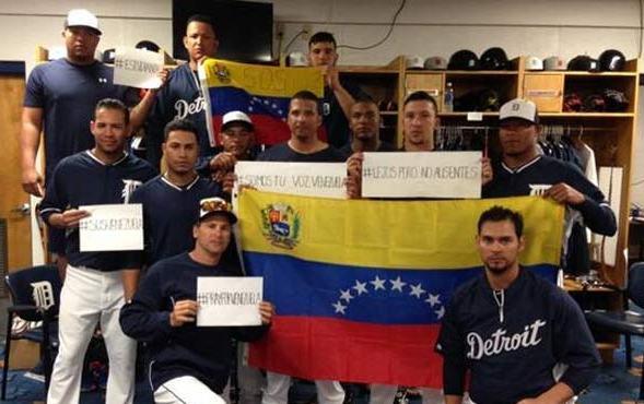 Los venezolanos de los Tigres se manifestaron.