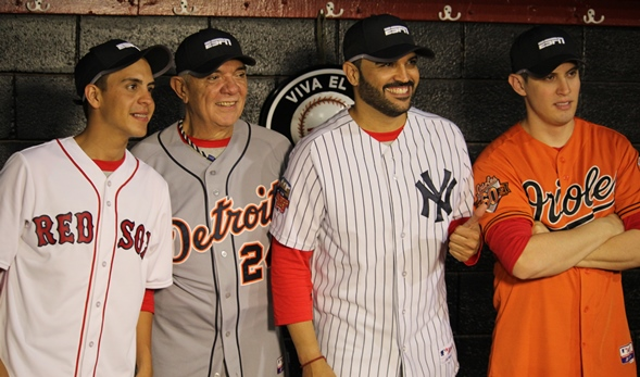 Guaco grabó el video para Espn béisbol en Miami. Foto: Gilberto González.